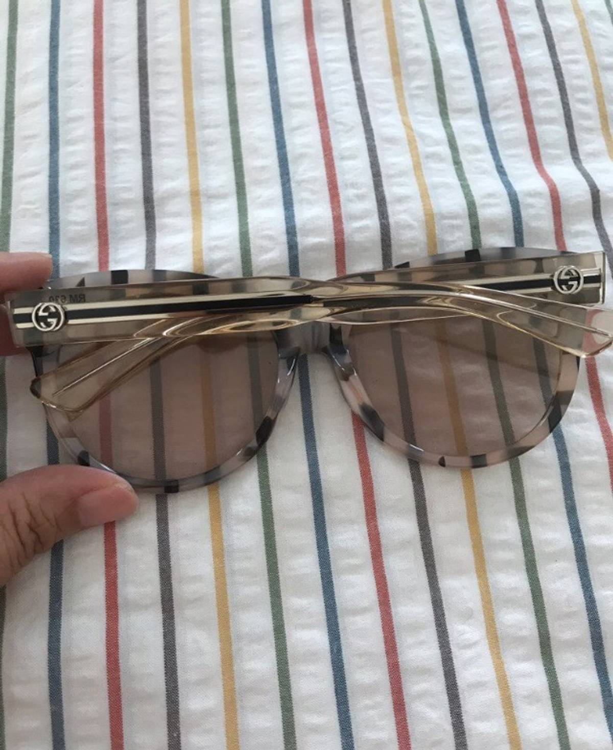 d5ef3791f3e7 Gucci Gucci Acetate Striped Cat Eye Sunglasses | Grailed
