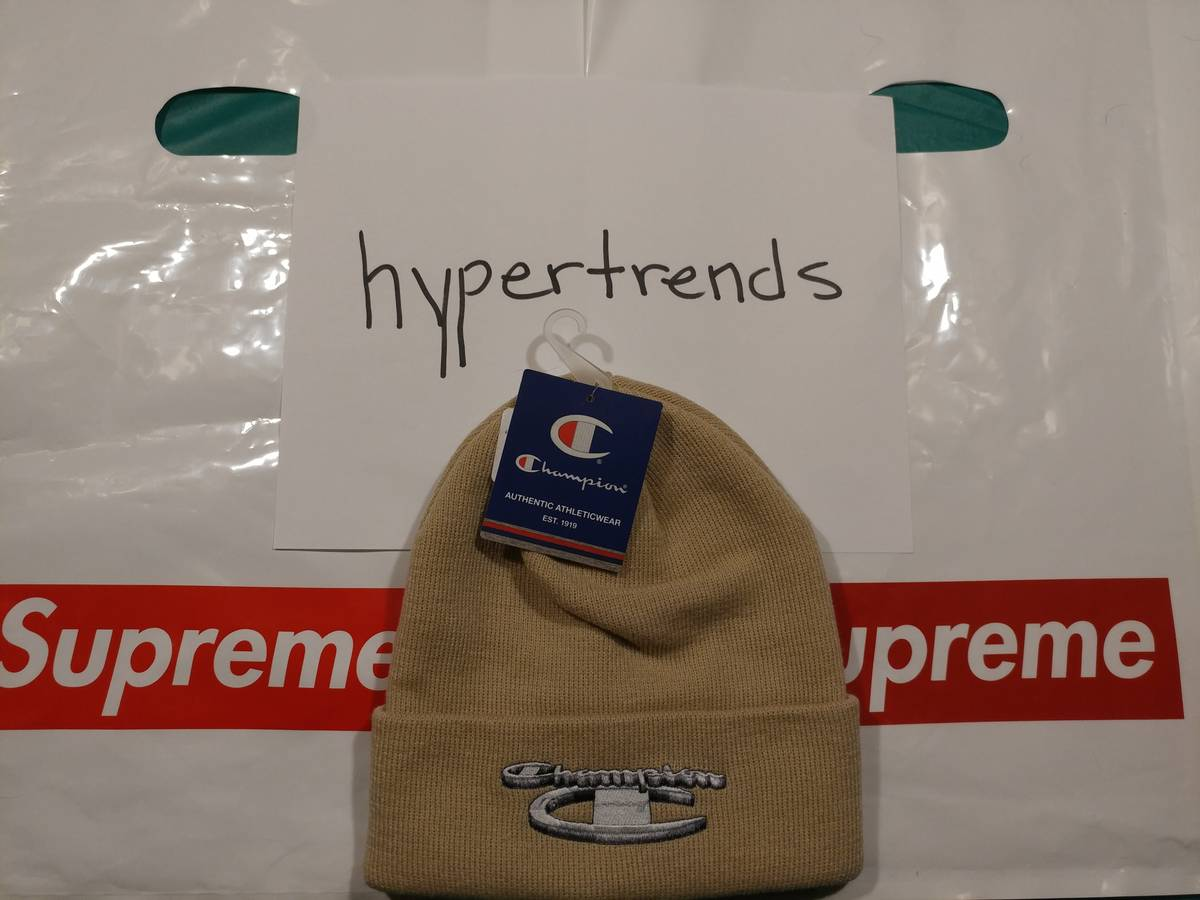 481f1734bfd Supreme Supreme® Champion® 3D Metallic Beanie Size one size - Hats for Sale  - Grailed