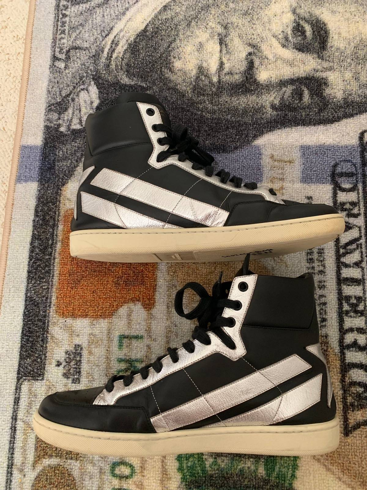 "0467d438cee7 Saint Laurent Paris YSL Court Classic High ""Black"" Size 10 - Hi-Top  Sneakers for Sale - Grailed"
