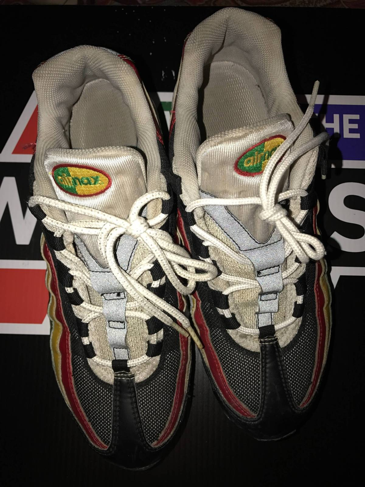 7f9b44f89c ... canada nike nike air max 95 rasta jamaica size 9 low top sneakers for  sale grailed
