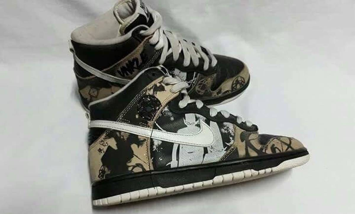 best website 2dddd 6cd9f Nike Nike Dunk High Unkle Dunkle By Mo Wax Size 7 - Hi-Top Sneakers for  Sale - Grailed