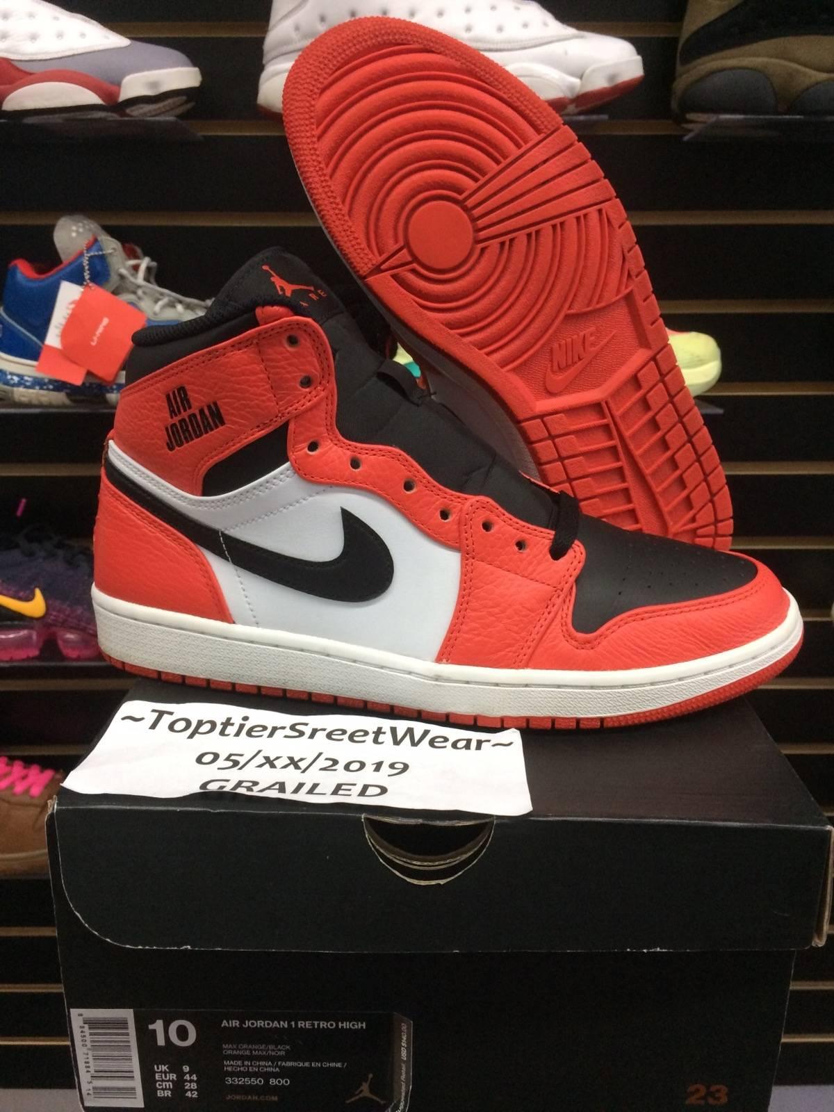 4a03b0a969 Nike × Jordan Brand ×. Air Jordan 1 Rare Air 'Max Orange'