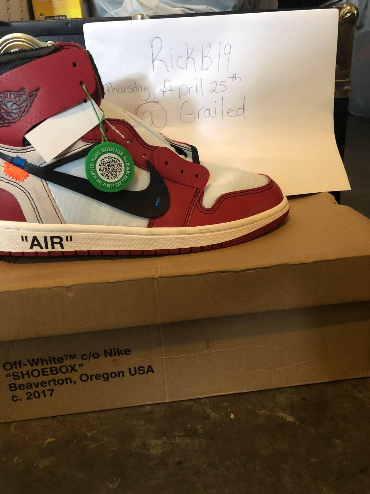 9f2aefabc430f9 Nike × Jordan Brand × Off-White ×. Nike Off-white Chicago Air Jordan 1 size  10