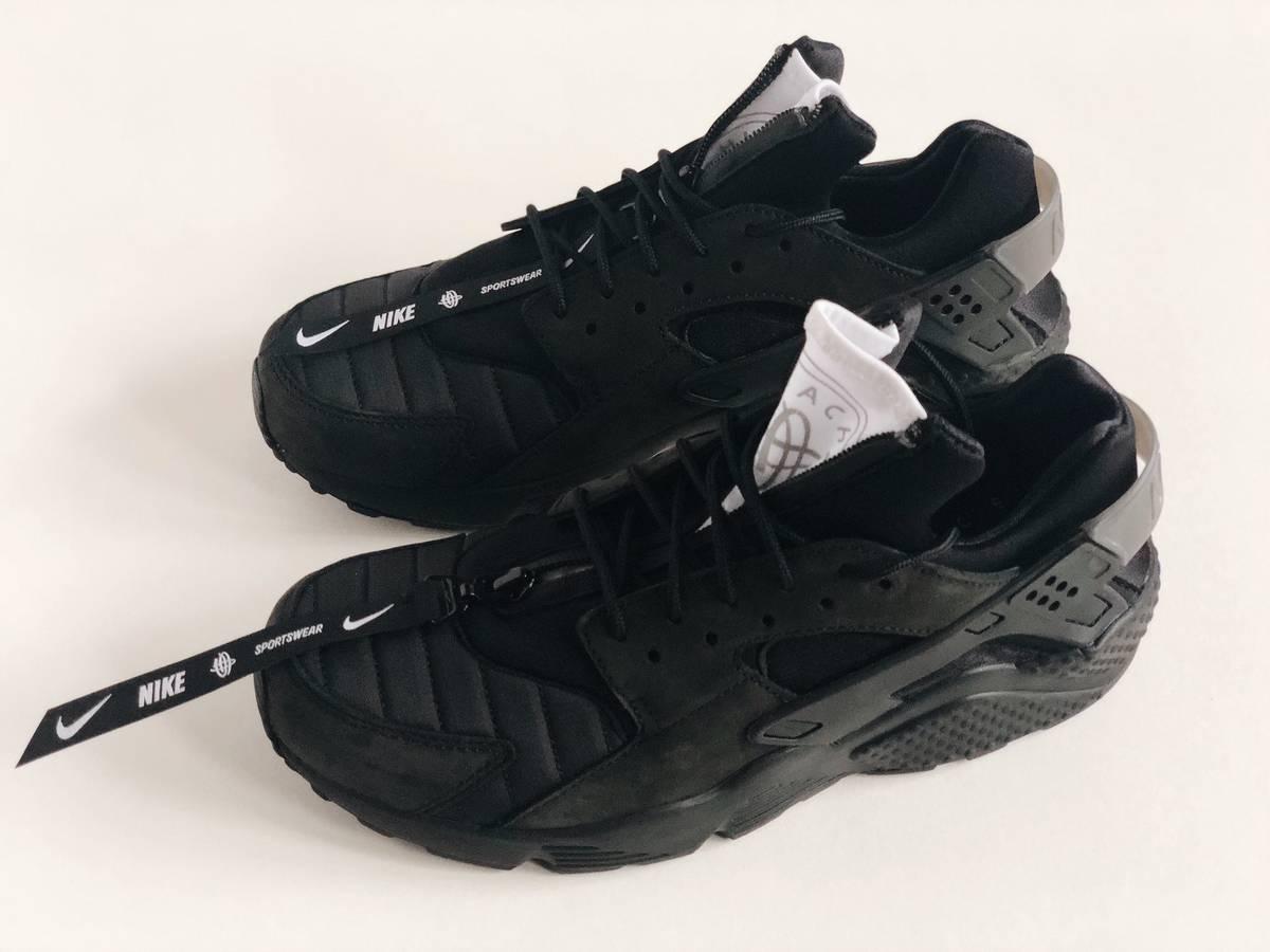 huge discount e8241 0ec04 ... Nike NIKE AIR HUARACHE RUN QS SZ 11.5 NYC BLACK WHITE ZIPPER NEW YORK  AJ5578- ...