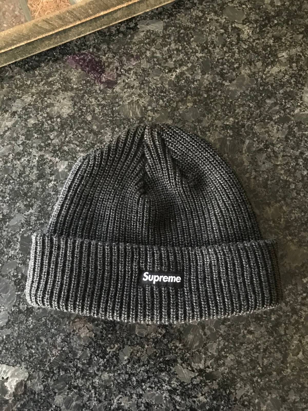 2868f3f3d Supreme Used Supreme Heather Loose Gauge Beanie Grey/Black Size One Size $70