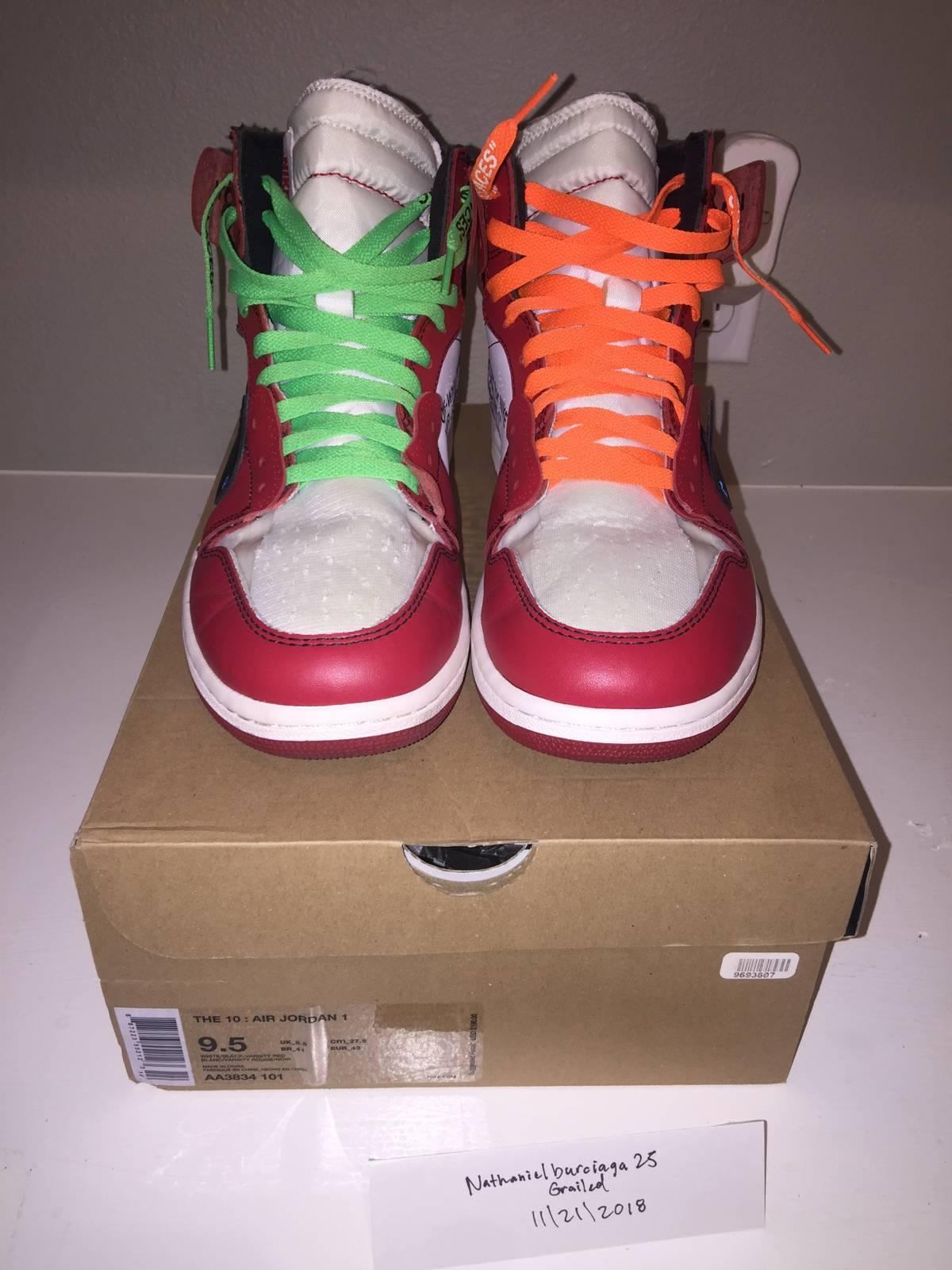 dbf623d8a879 Off-White Nike Air jordan 1 Off-white Chicago Size 9.5 - Hi-Top ...