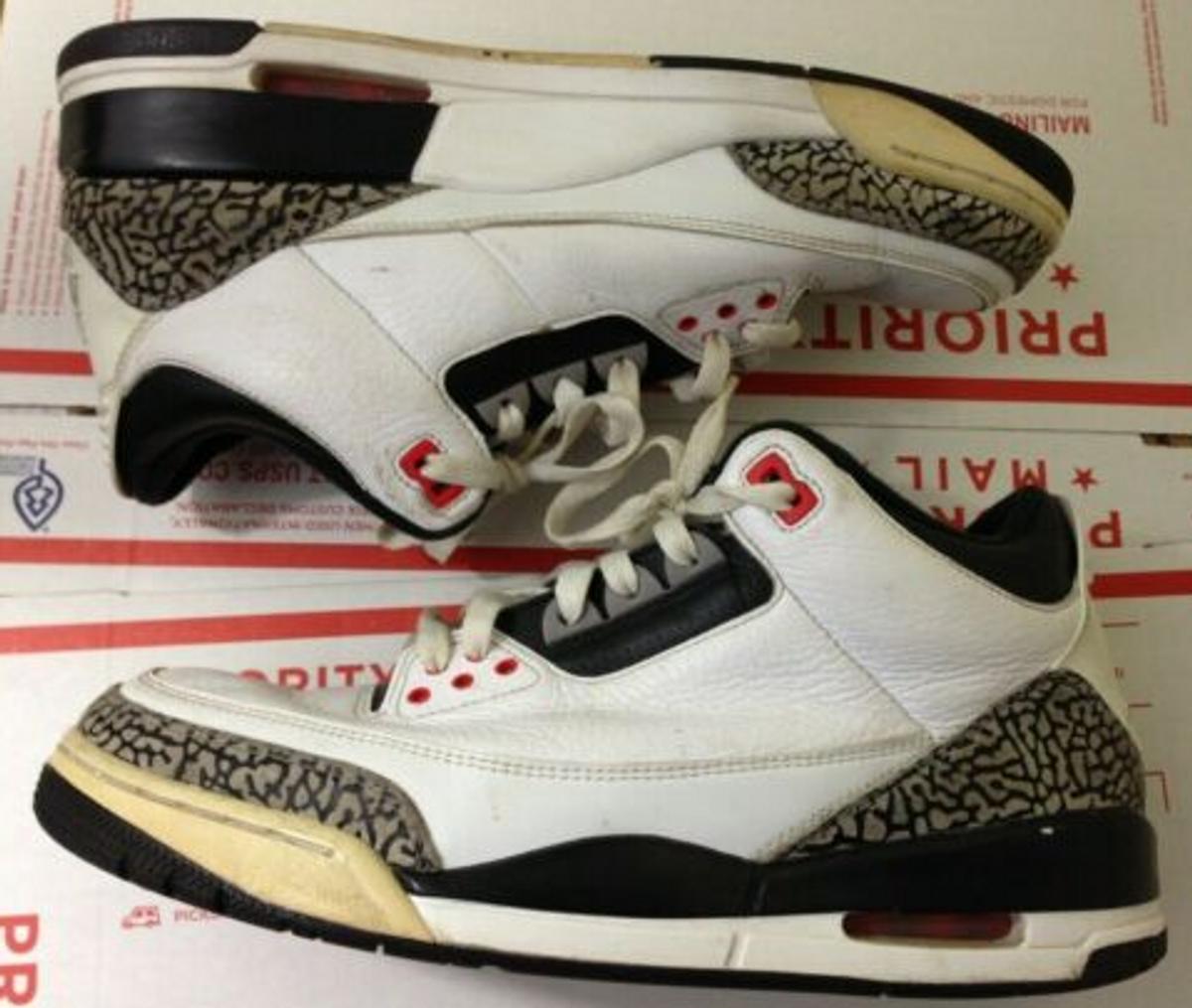 newest 3a65d 50e77 Nike × Jordan Brand ×. Nike Air Jordan 3 III Retro Infrared 23 White Black  Cement ...