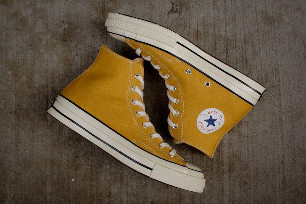 5de57f0345d Converse Converse First String Chuck Taylor All Star 1970s 70 Hi Sunflower  Yellow 138478C Size 7.5 - Hi-Top Sneakers for Sale - Grailed