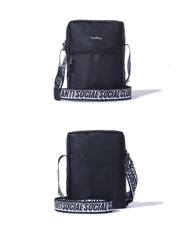 Anti Social Social Club Assc Black Shoulder Bag Size One Size $80