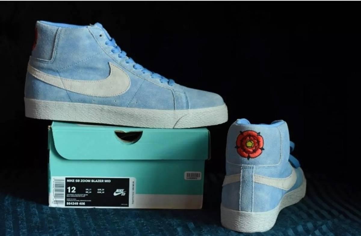 8fcb28e56adaa Nike Sb Blazer Mid Lance Mountain English Rose Blue Bone | Grailed