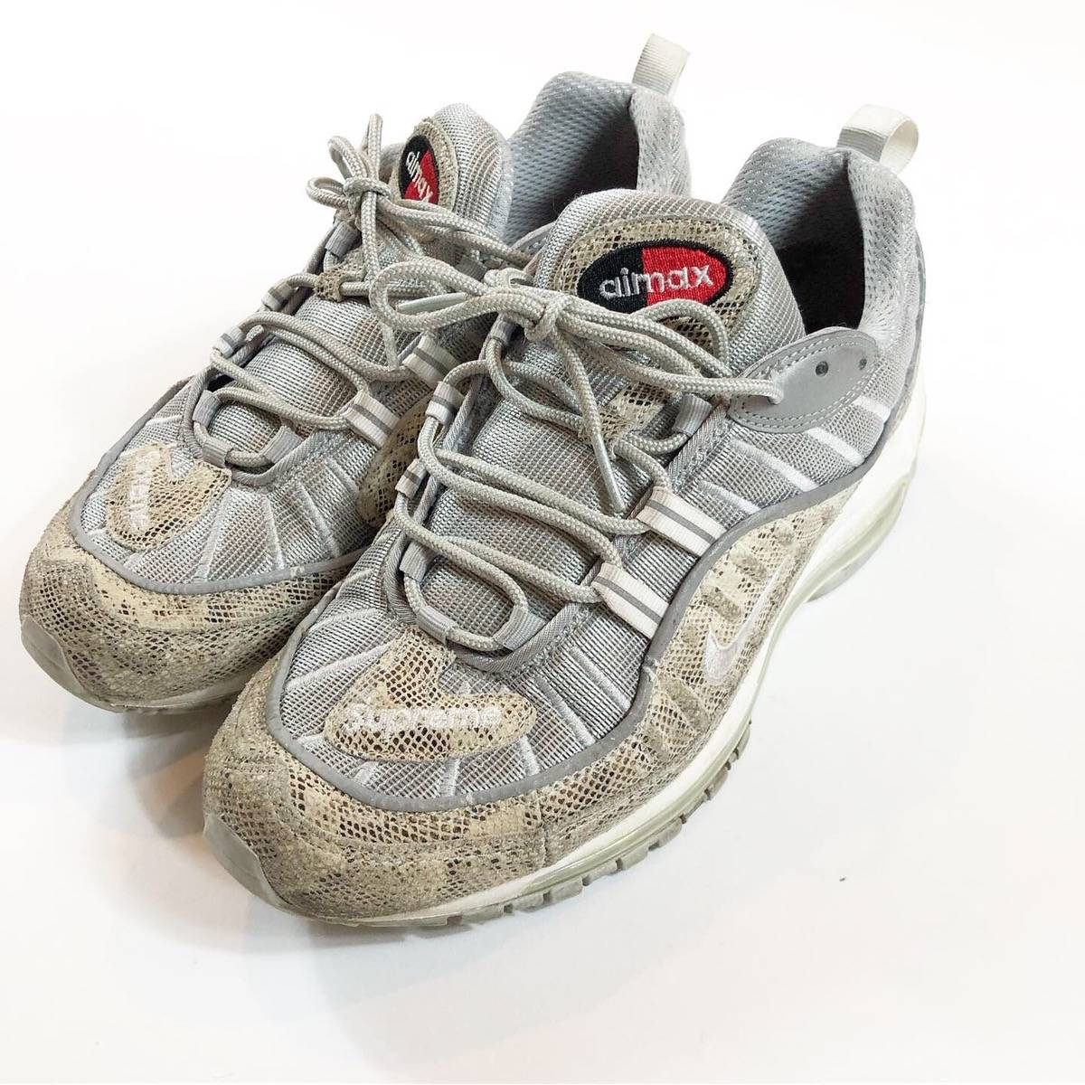 new product 4eefd 7172b Nike × Supreme Supreme Nike Air Max 98 Snakeskin Rare Sold Out Size 9 Size  9 $243