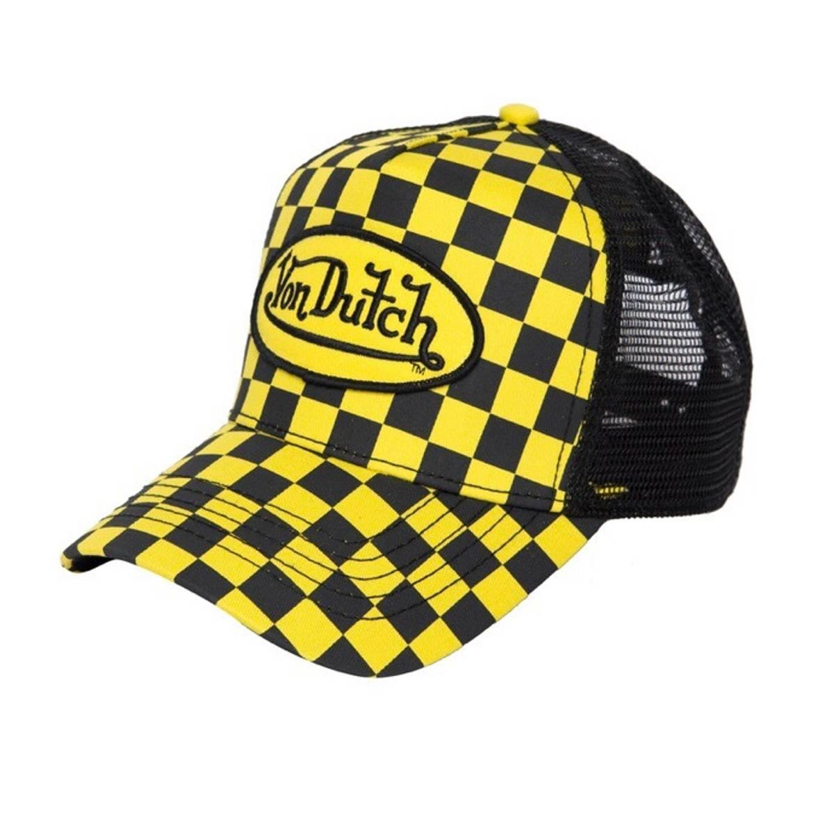 Von Dutch Von Dutch Trucker Hat Cap 237 S P Yellow Black Checker Supreme  Box Logo Playboi Carti Ian Connor Awge Rocky Size one size - Hats for Sale  - ... 52f20f261408