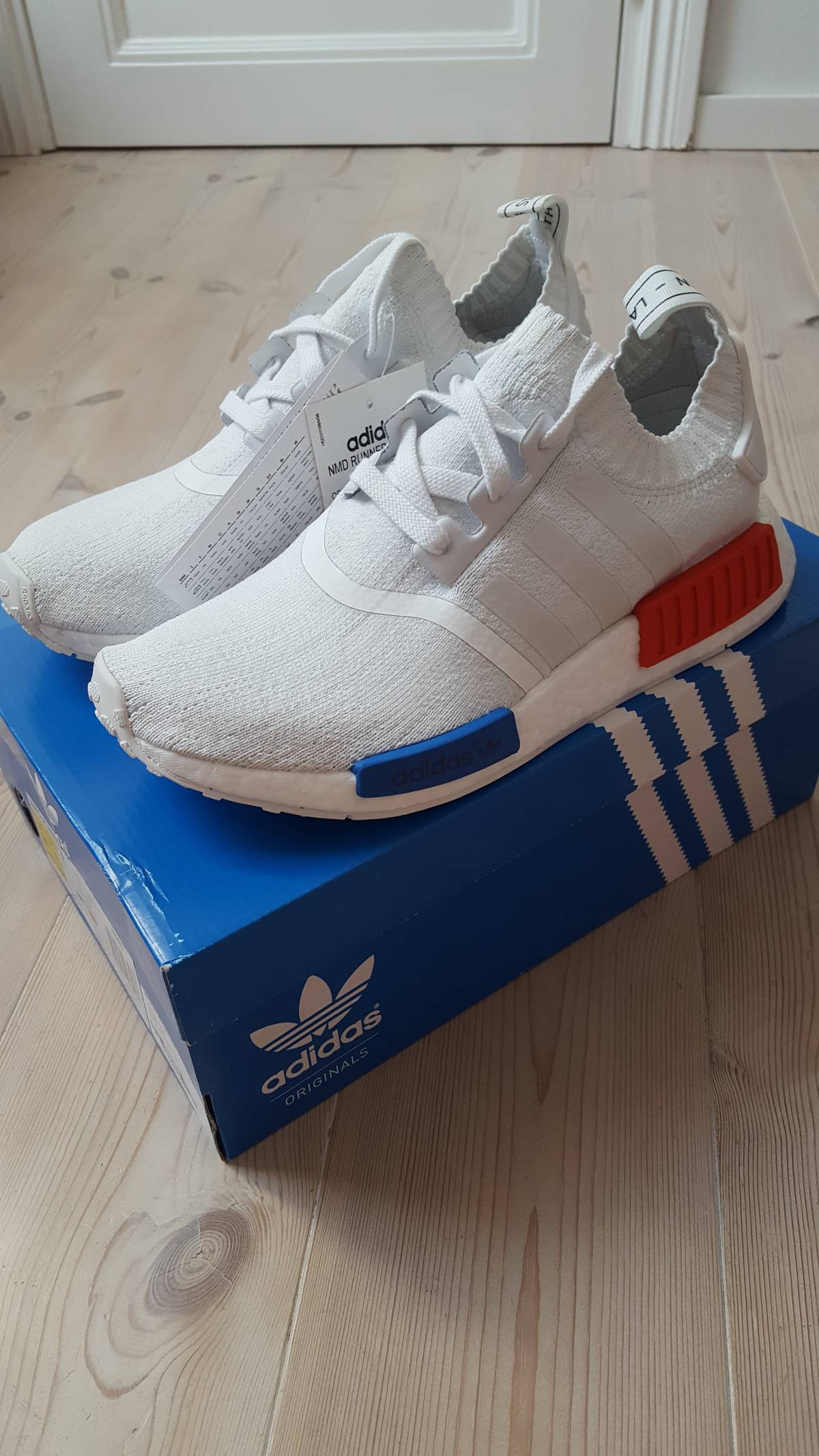 4a760a908b4ad Adidas NMD R1 PK OG WHITE Size 6 - Hi-Top Sneakers for Sale - Grailed
