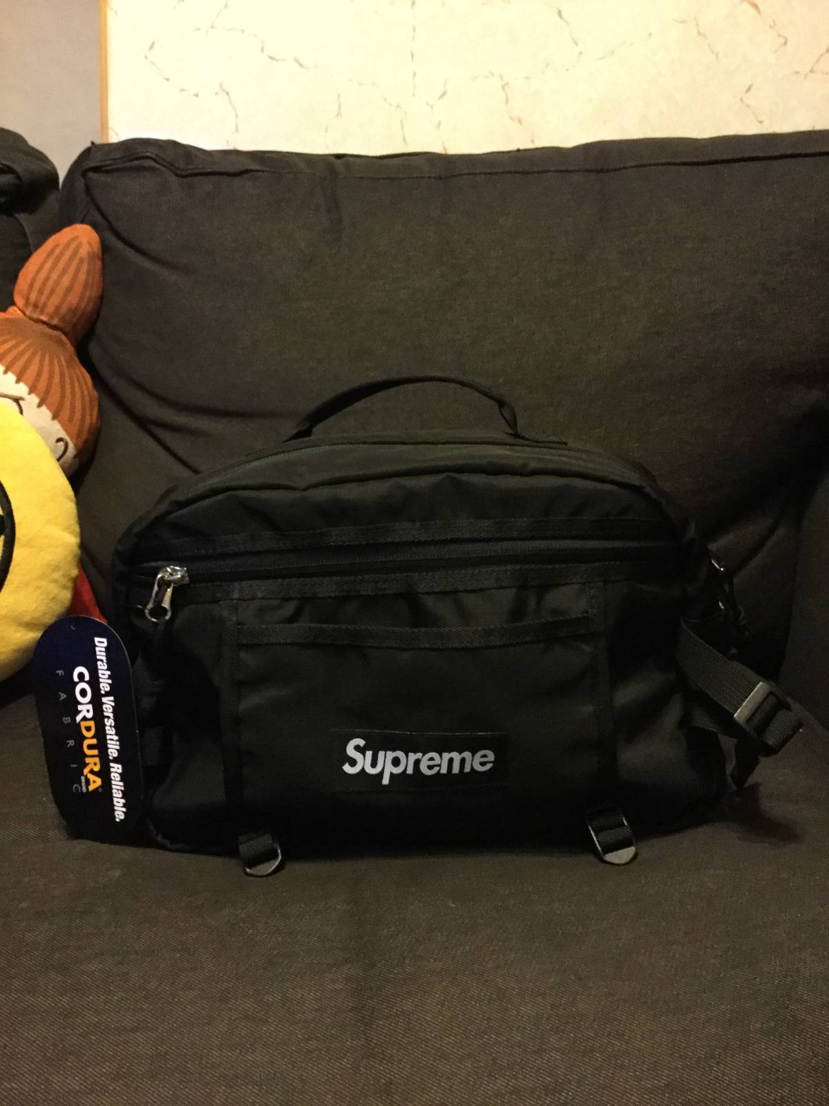 4bdcf937b113 Supreme 2016 SS SUPREME tonal Shoulder bag Black Supreme shoulder bag hip  bag waist bag BOX Size one size - Bags   Luggage for Sale - Grailed