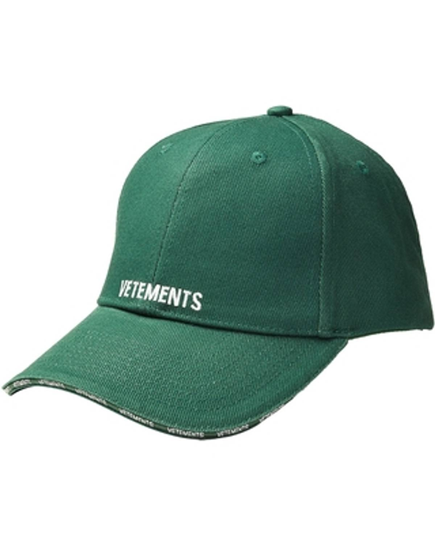344ab8e92a4b12 Vetements Vetements Green Logo Baseball Cap   Grailed