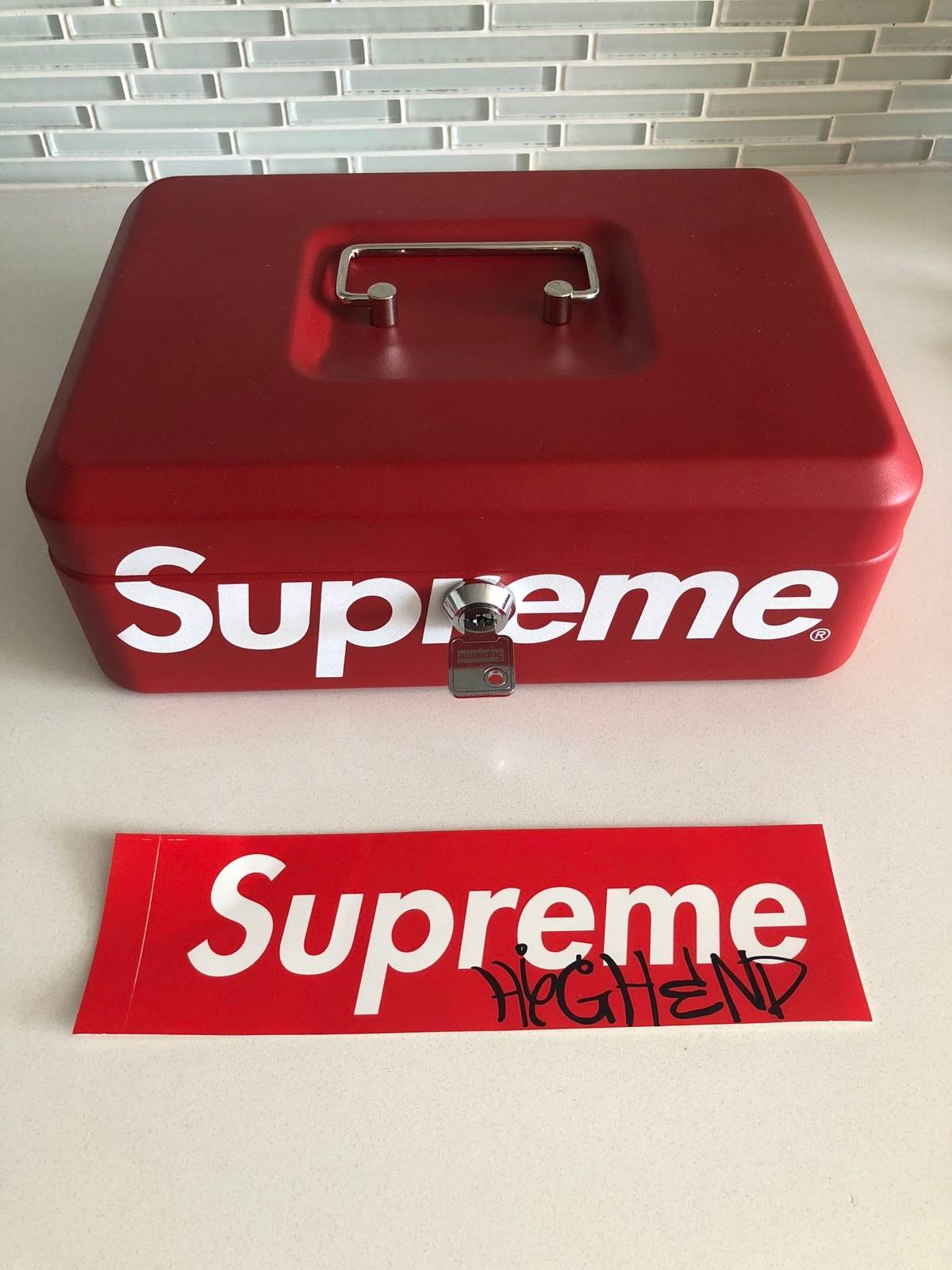 Supreme Red Lock Box