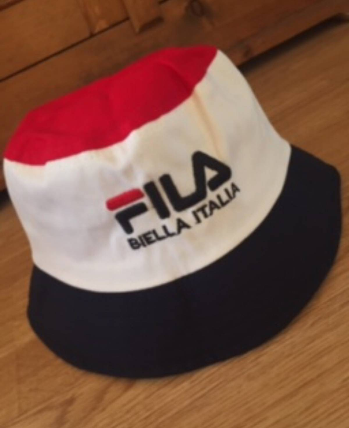 c9a7a309414 Fila  FILA Rare Mens Unisex 90 s RAVER BLUE WHITE RED Casuals VINTAGE  Italia Bucket HAT (M)  Size one size - Hats for Sale - Grailed