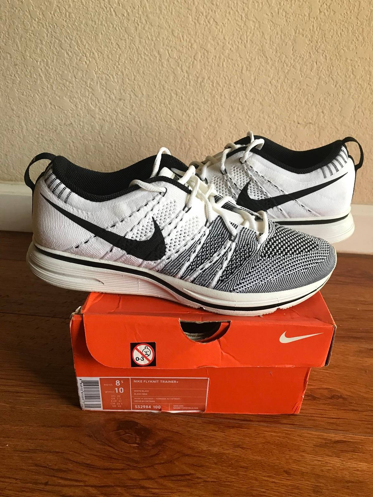 99931ba7bf71c1 Nike Flyknit Trainer White 2012 Padded Size 8.5 - Low-Top Sneakers ...