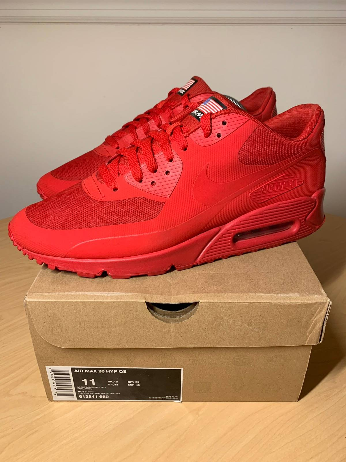 Nike Air Max 90 Hyperfuse Independence Day Red Size 11 $224