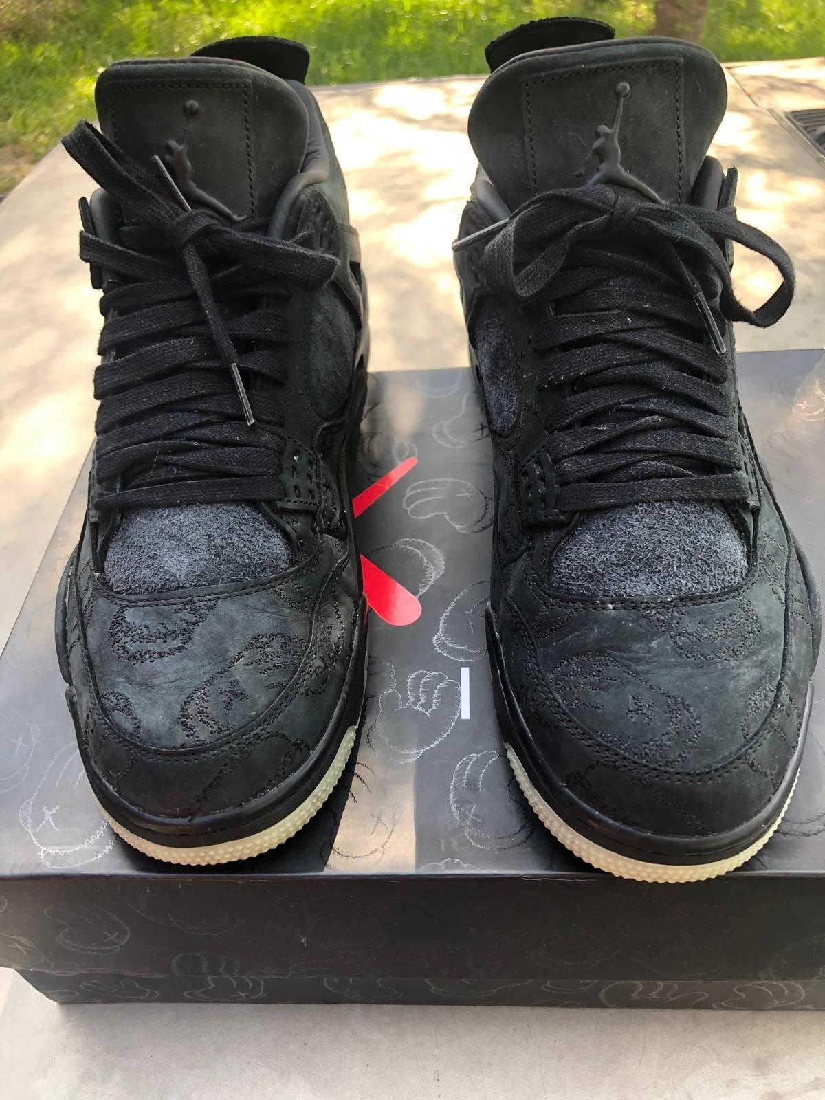 pretty nice 2615f 4ee3a Jordan Brand × Kaws 👟 Kaws Jordan 4 Black 👟 Size 11 $450