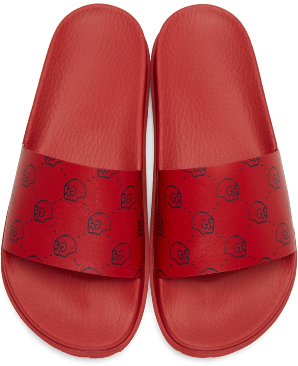 5369dce3b49 Gucci Gucci Ghost Slide Sandals in Red Skull Monogram Size 9.5 ...