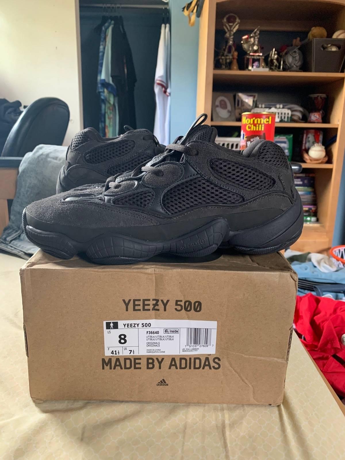 5357050a9eb Adidas × Kanye West ×. Yeezy 500 Utility Black. Size  US 8 ...