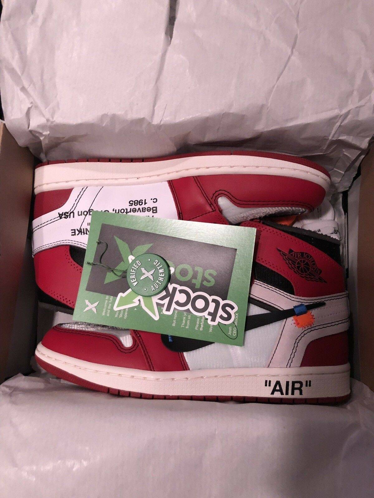 f62eb3fe Nike Air Jordan 1 Off White Chicago Stockx   Grailed