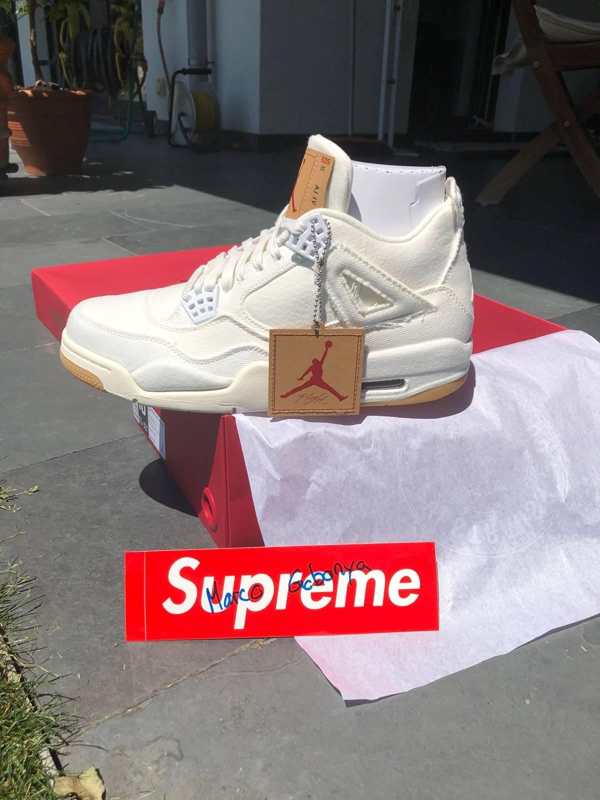 sale retailer c3ad0 4f477 Jordan Brand × Levi's Air Jordan 4 X Levi'S White Denim Size 10 $400