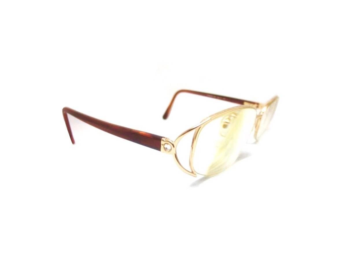 7291e77fd9 Salvatore Ferragamo Rare Vintage 90s Gold Tortoise Oval Round Square Frames  Semi Rimless Eyeglasses Not Gucci Cartier Dior Versace Fendi Size one size  ...