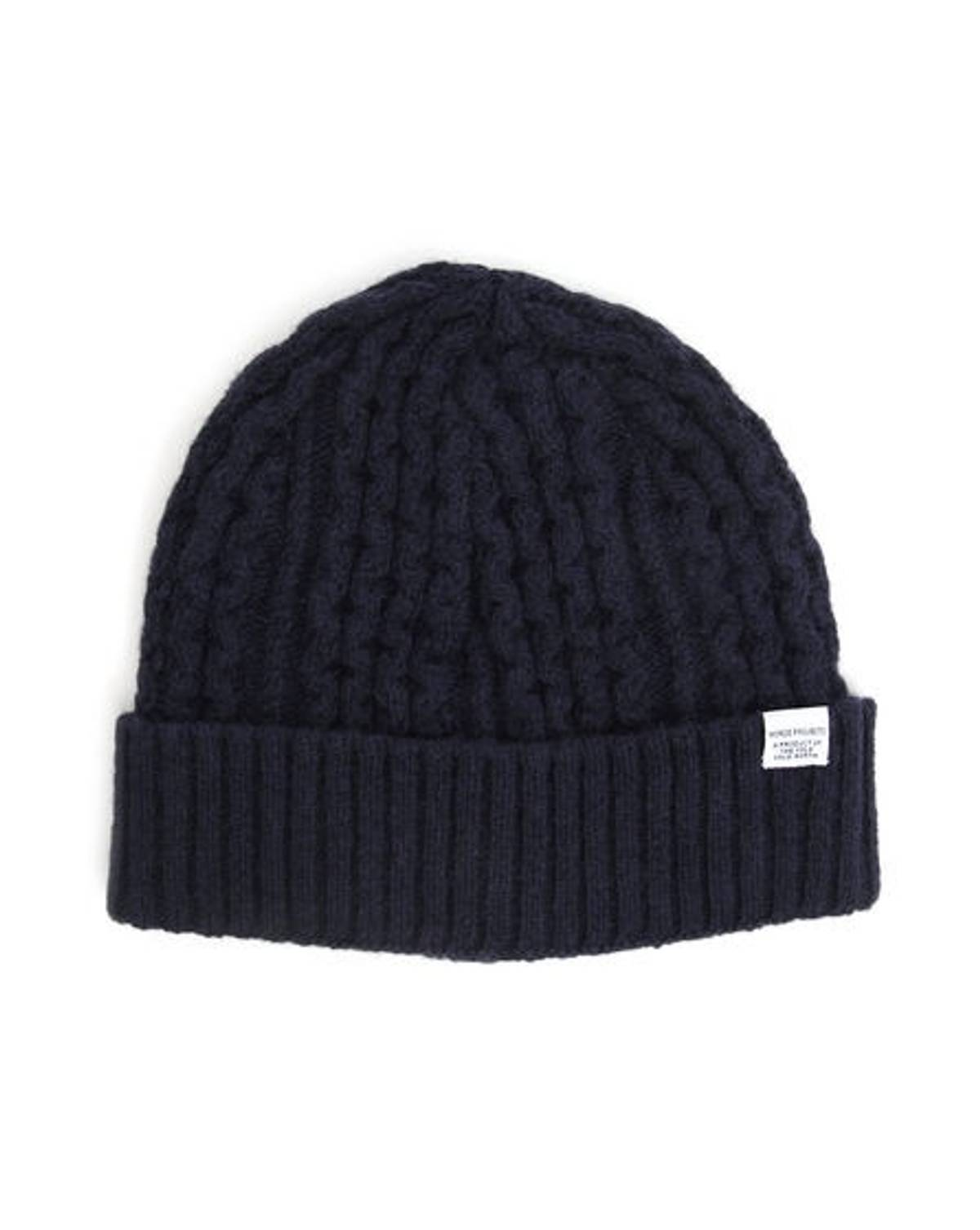 fdd5ccbd19b Norse Projects  70 Wool Cable Knit Beanie