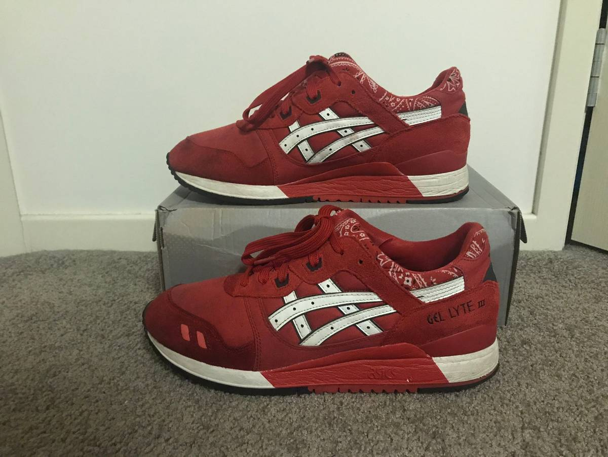Asics Gel Lyte Iii 'Red Bandana Pack' Size 10.5 $150