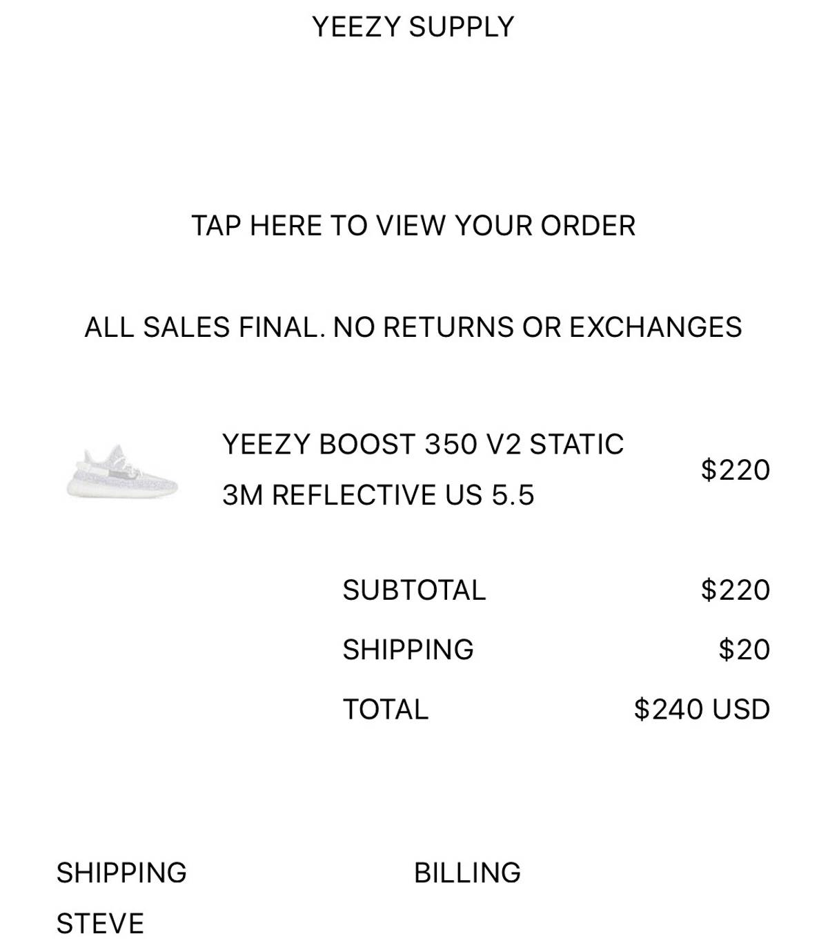 sports shoes 91284 ea324 Adidas Adidas Yeezy Boost 350 V2 Static Reflective Yeezy Supply Exclusive  Size 6 $640