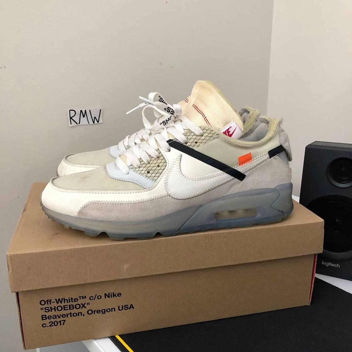 Nike Nike Off White Air Max 90 Size 11 $650