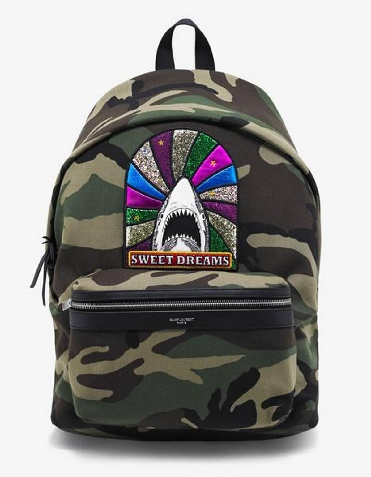 95578b8e9b Saint Laurent Paris ×. Saint Laurent Sweet Dreams Backpack Camo. Size: ONE  SIZE