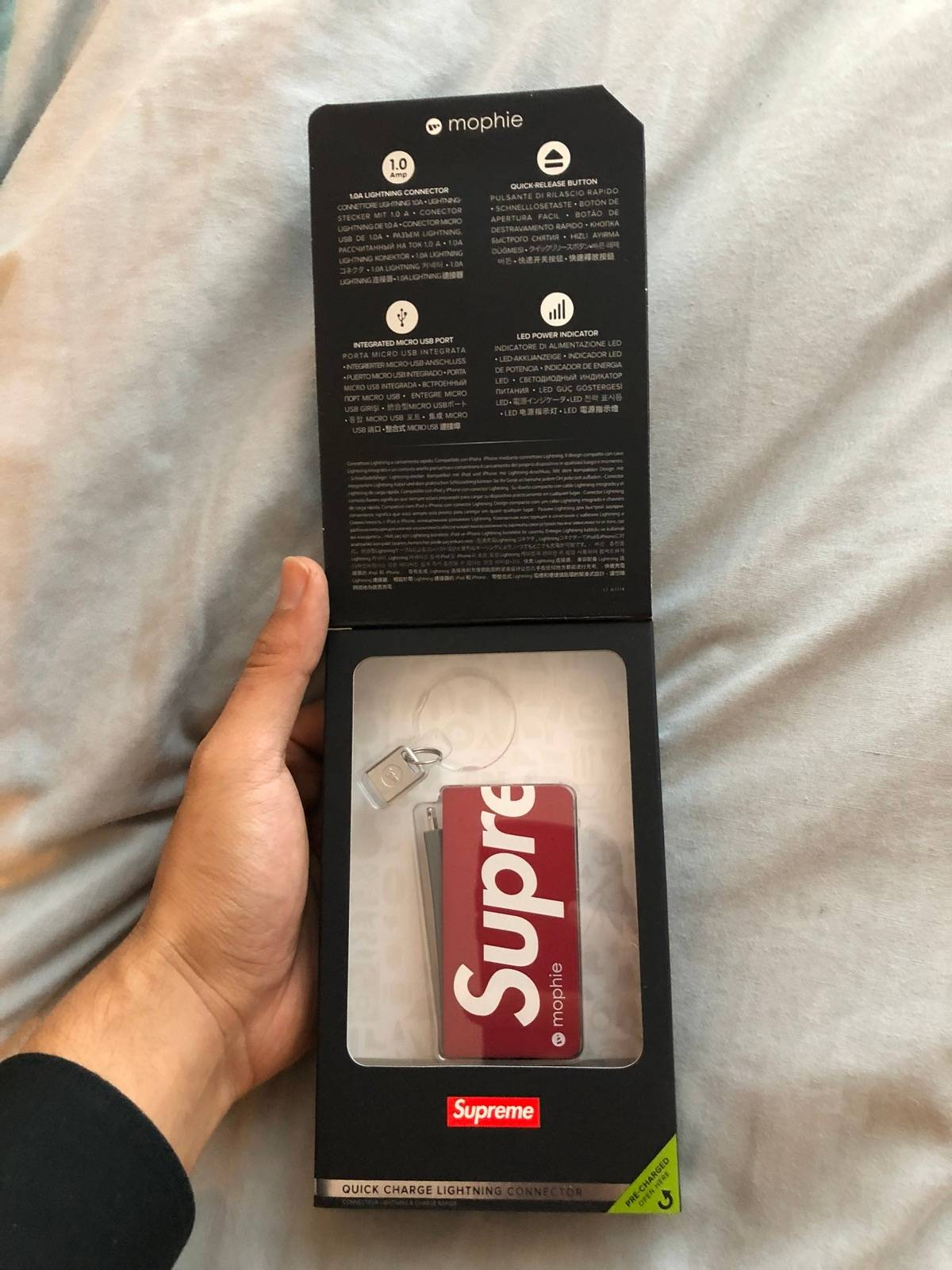 newest 0703e aa320 Mophie × Supreme Supreme Mophie Charger Size One Size $100