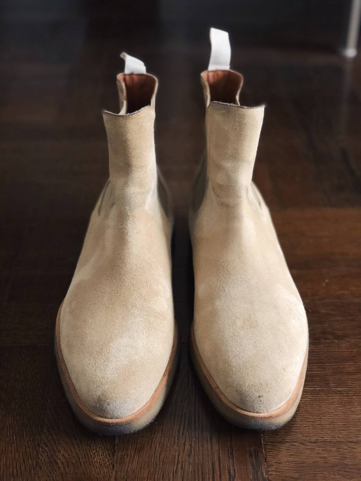Common Projects Common Projects Chelsea Boots In Suede Tan Size 45 12 Size 12 $253