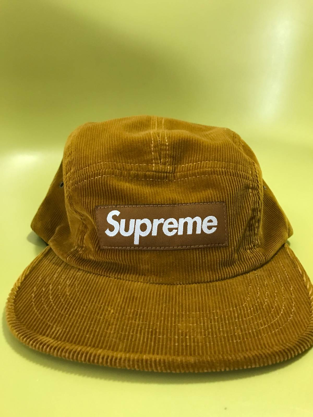 6e25a1341b5 Supreme Supreme SS16 Corduroy Camp Hat Gold Size one size - Hats for Sale -  Grailed