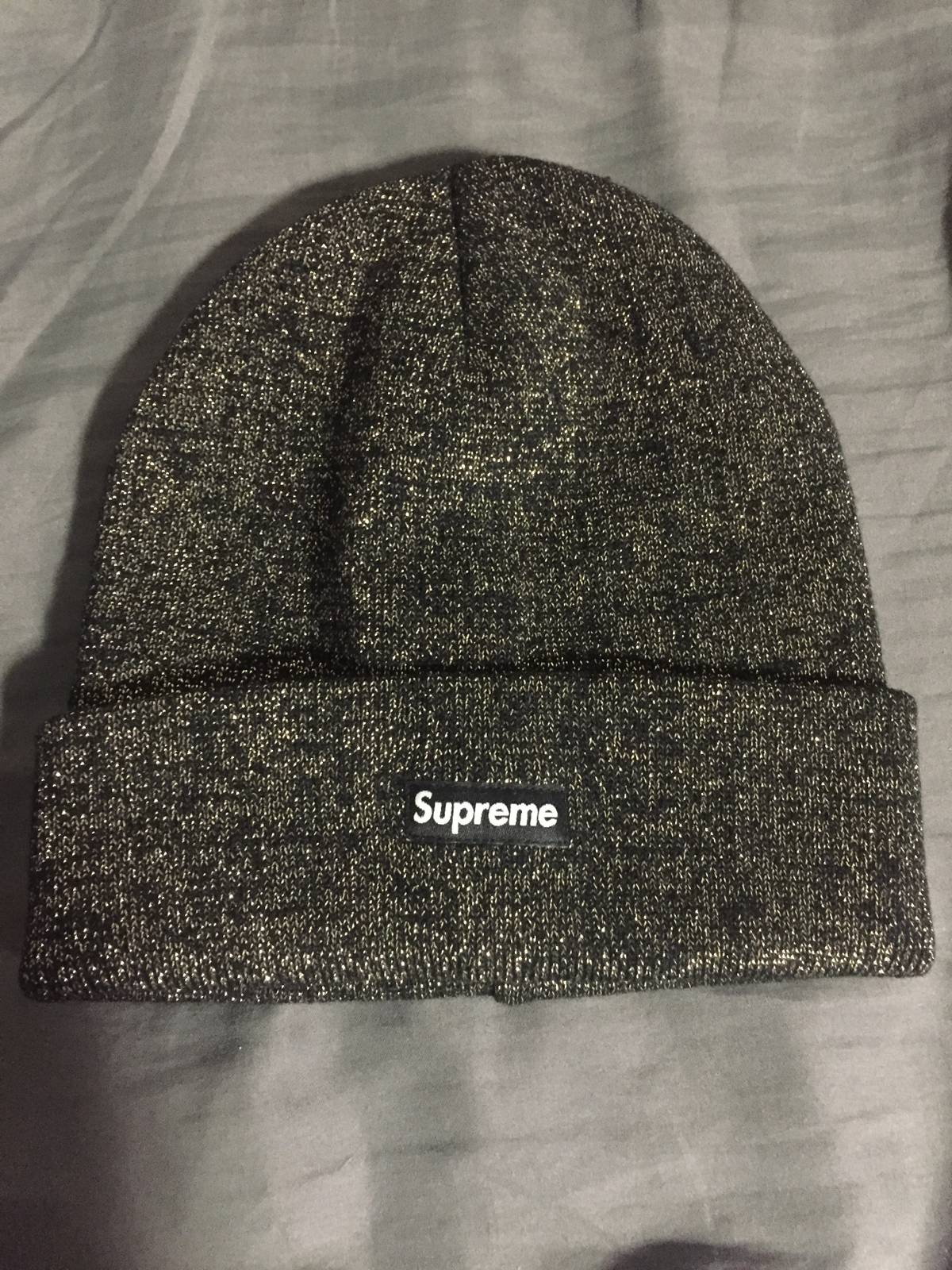 a9afec0606d Supreme Black Tinsel Beanie Size one size - Hats for Sale - Grailed