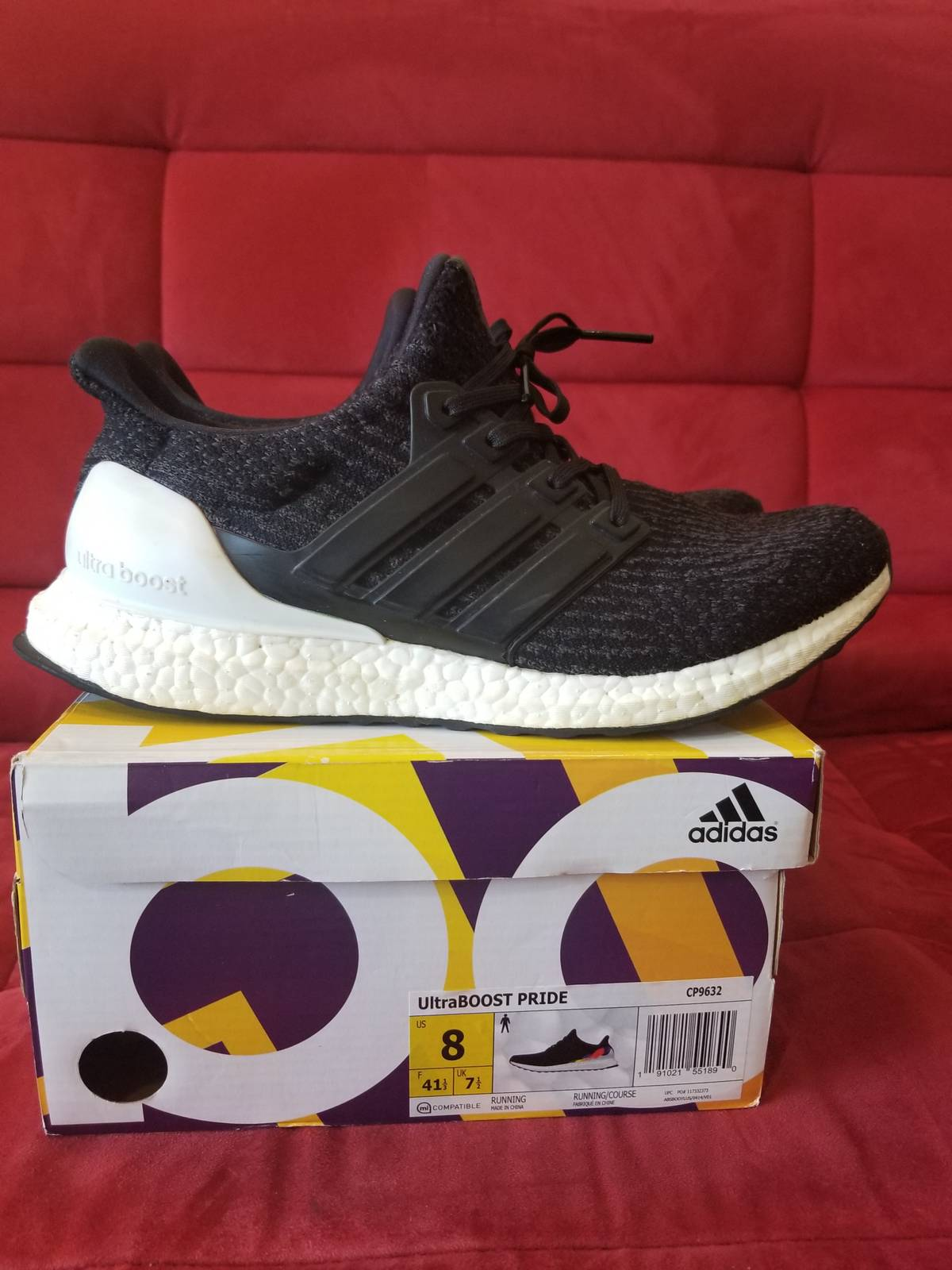 cheap for discount 7b8e1 a72e5 Adidas Adidas Ultra Boost Pride Custom Size 8 - Low-Top Sneakers for Sale -  Grailed