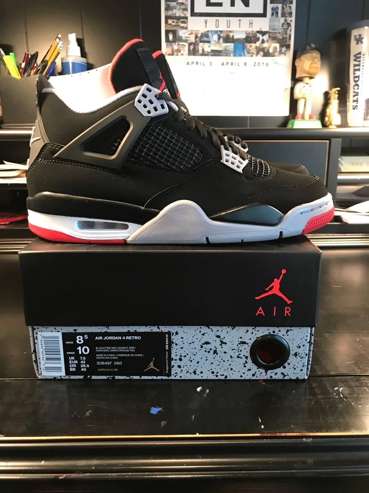 innovative design 55e12 cd526 Jordan Brand ×. Nike Air Jordan 4 Bred 2019