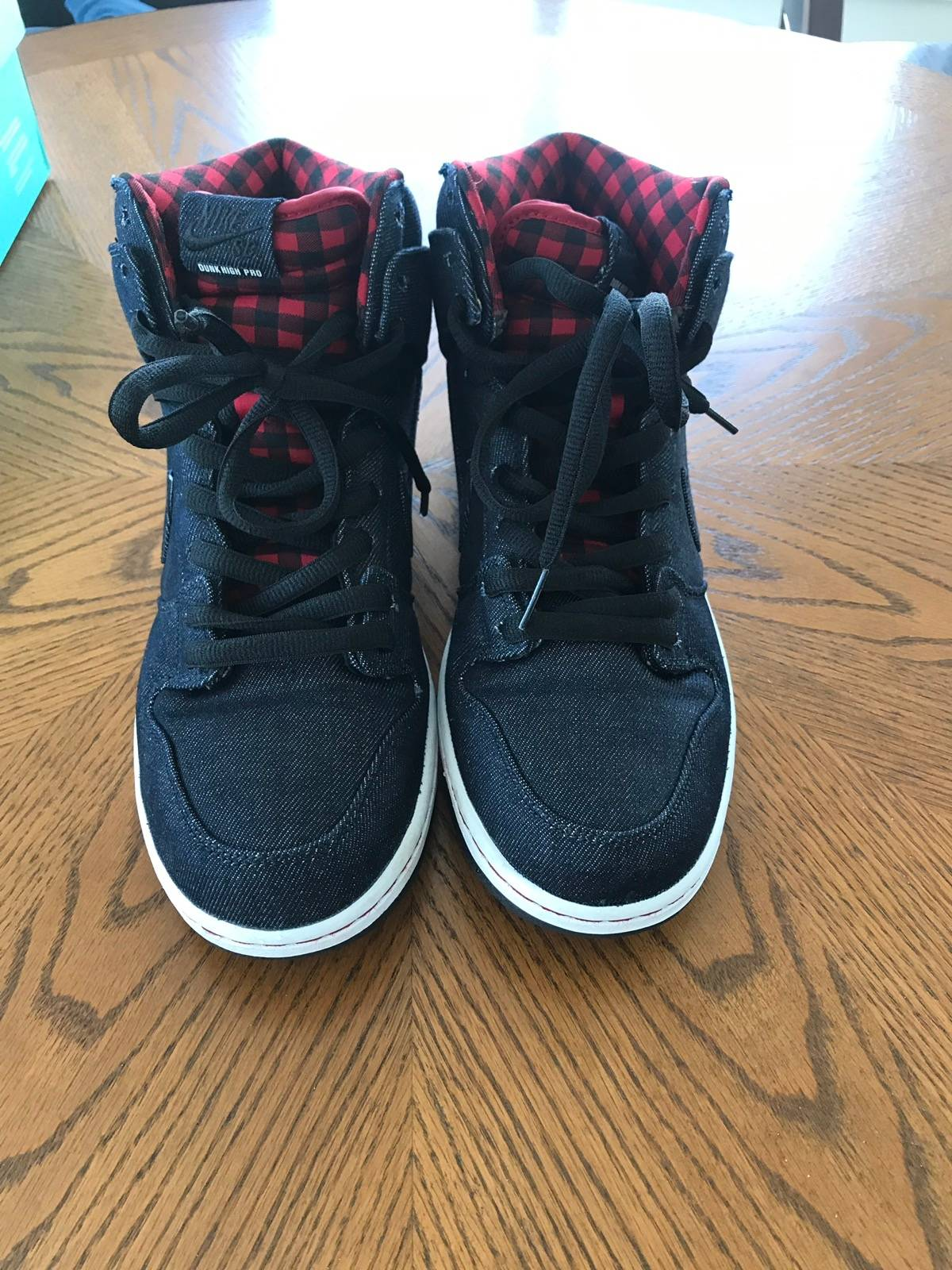 "sports shoes 91079 33953 Nike Nike Sb Dunk High ""Lumberjack"" Premium Denim Plaid Size 12 $67"