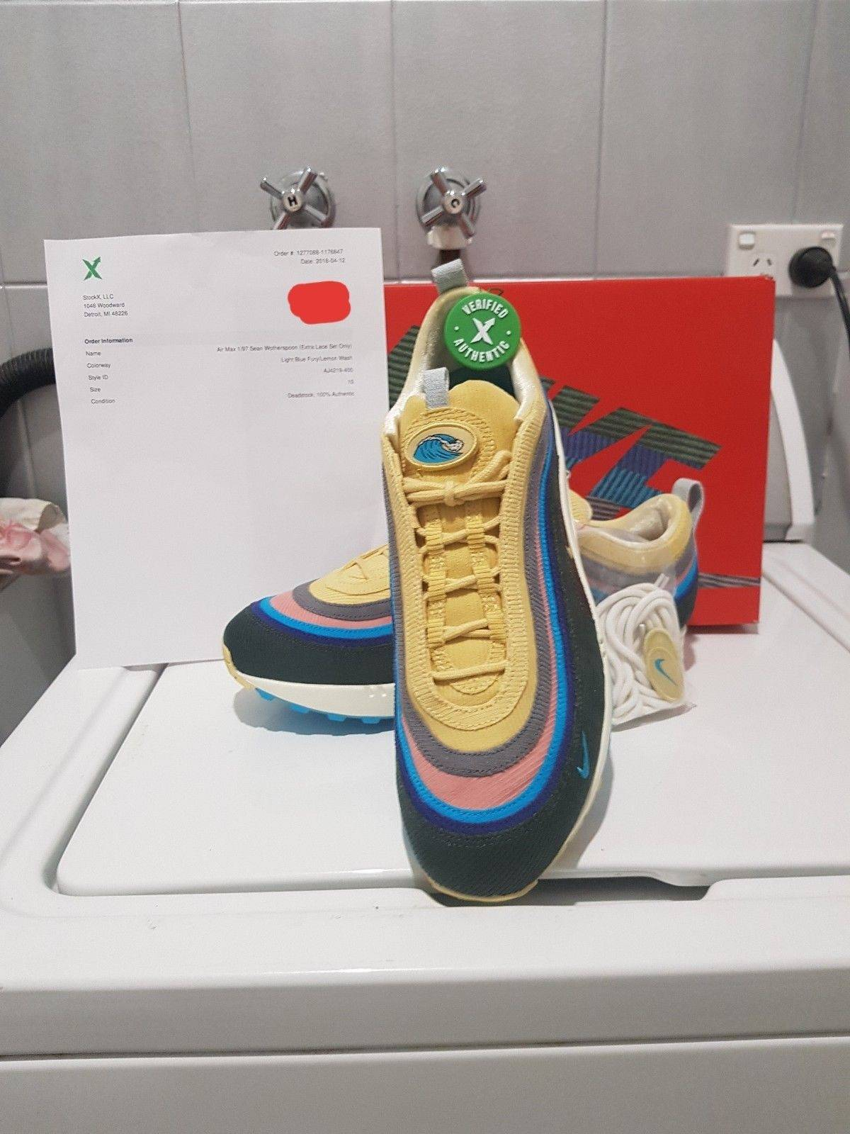 Nike air max 1 97 VF SW Sean Wotherspoon Stock X VERIFIED Size 10 - Low-Top  Sneakers for Sale - Grailed 109caf9f8