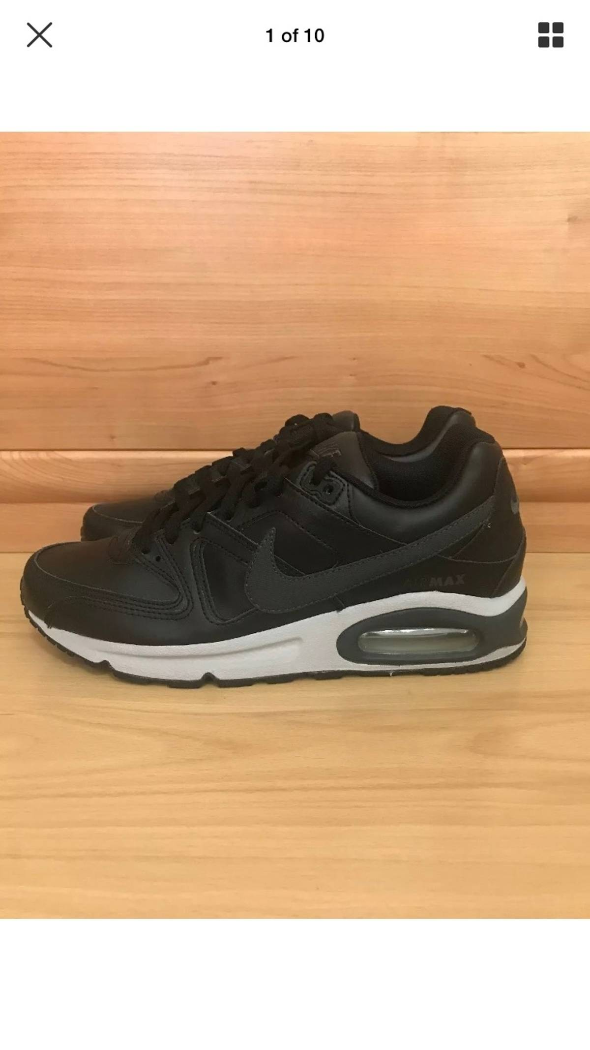 Nike Nike Air Max Command Leather Black Trainers Uk Size 8.5 Size 9.5 $80