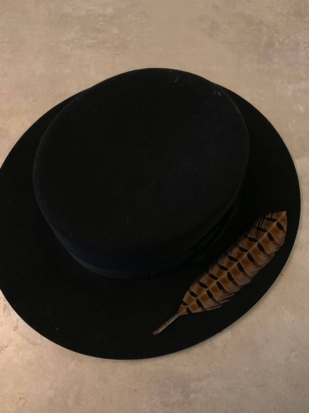 c8f1a9e09 Saint Laurent Paris Feather Fedora Size One Size $599