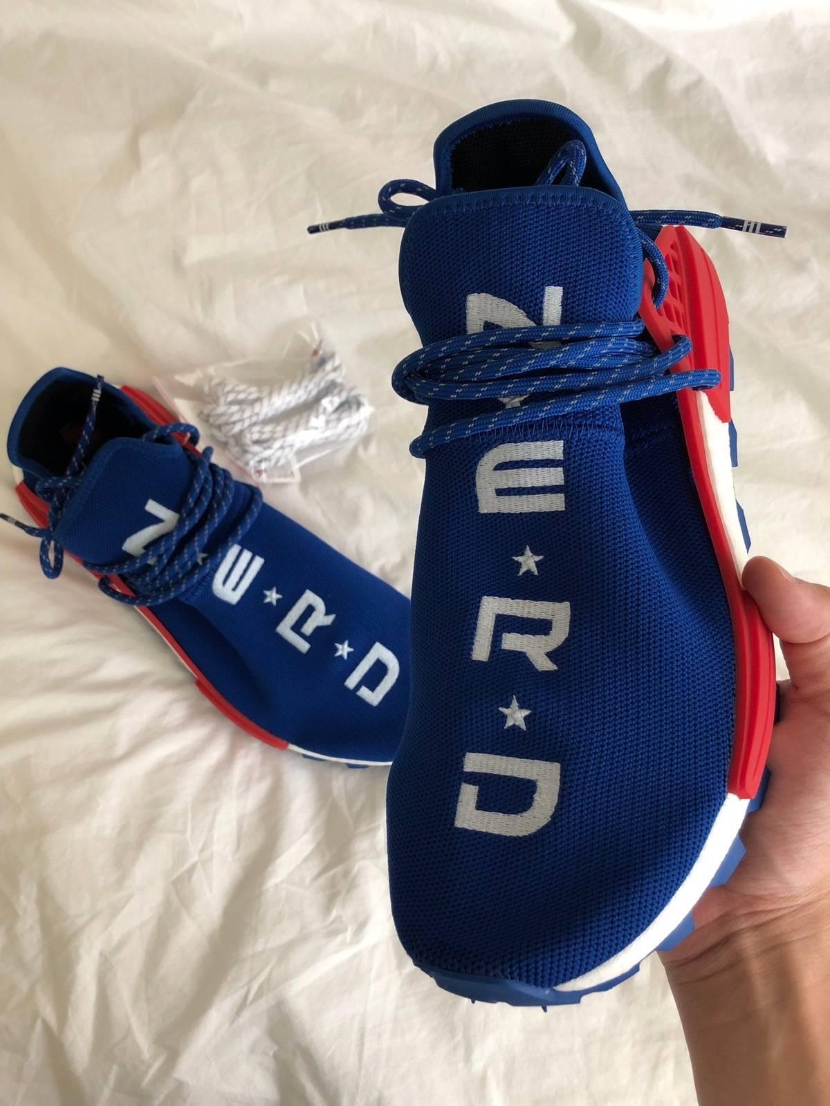 in stock 7cbb5 1ed24 Adidas × Pharrell Pharrell X Adidas Nmd Human Race N.E.R.D Blue Red Size  10.5 $600