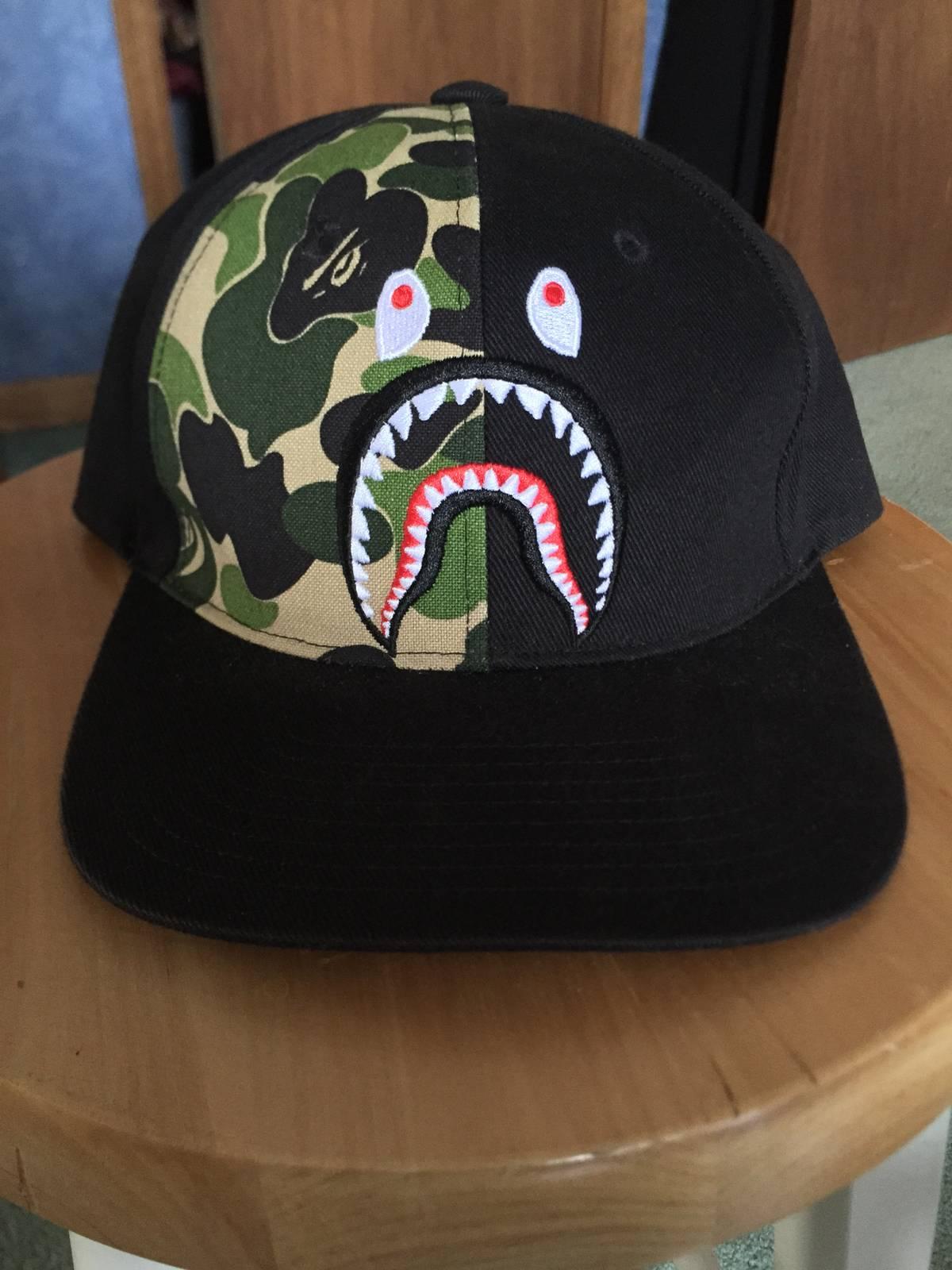 7d85f03f4573 Bape Abc Shark Snapback Cap