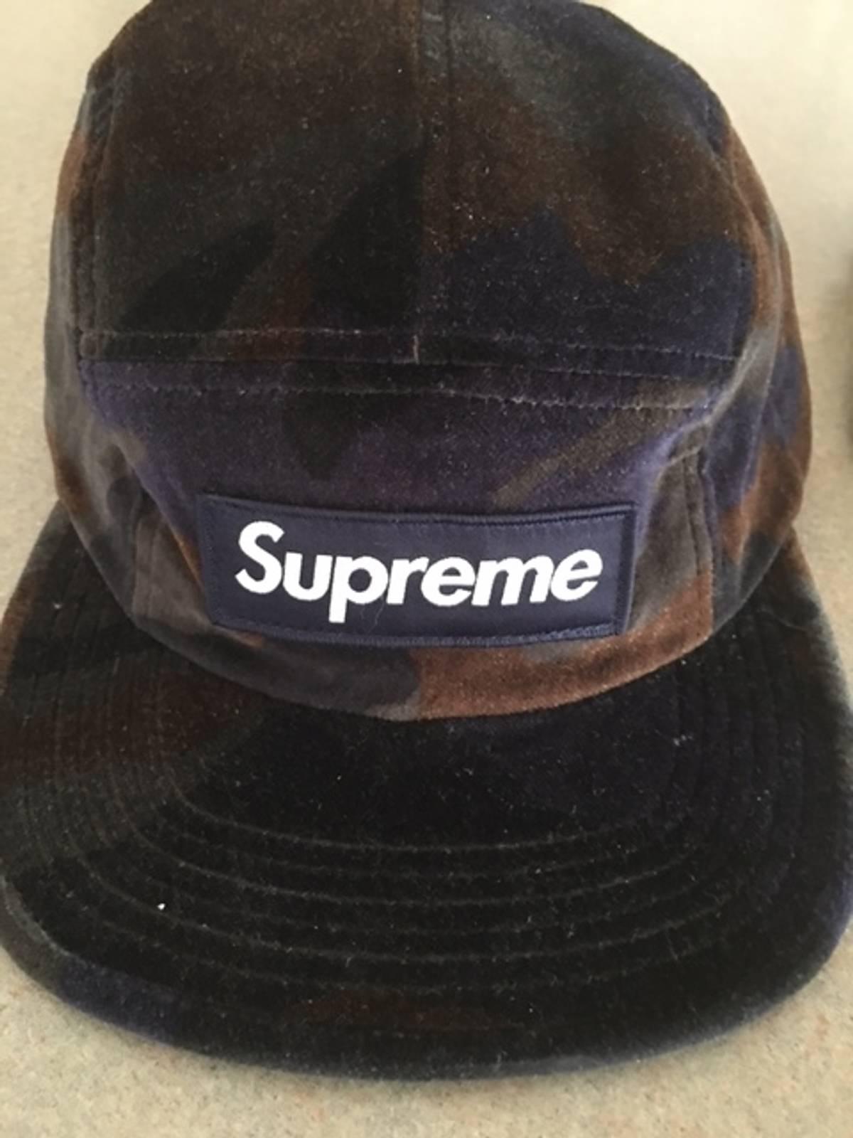 1ff0ea9826d Supreme Velvet Camo Camp Cap Size one size - Hats for Sale - Grailed