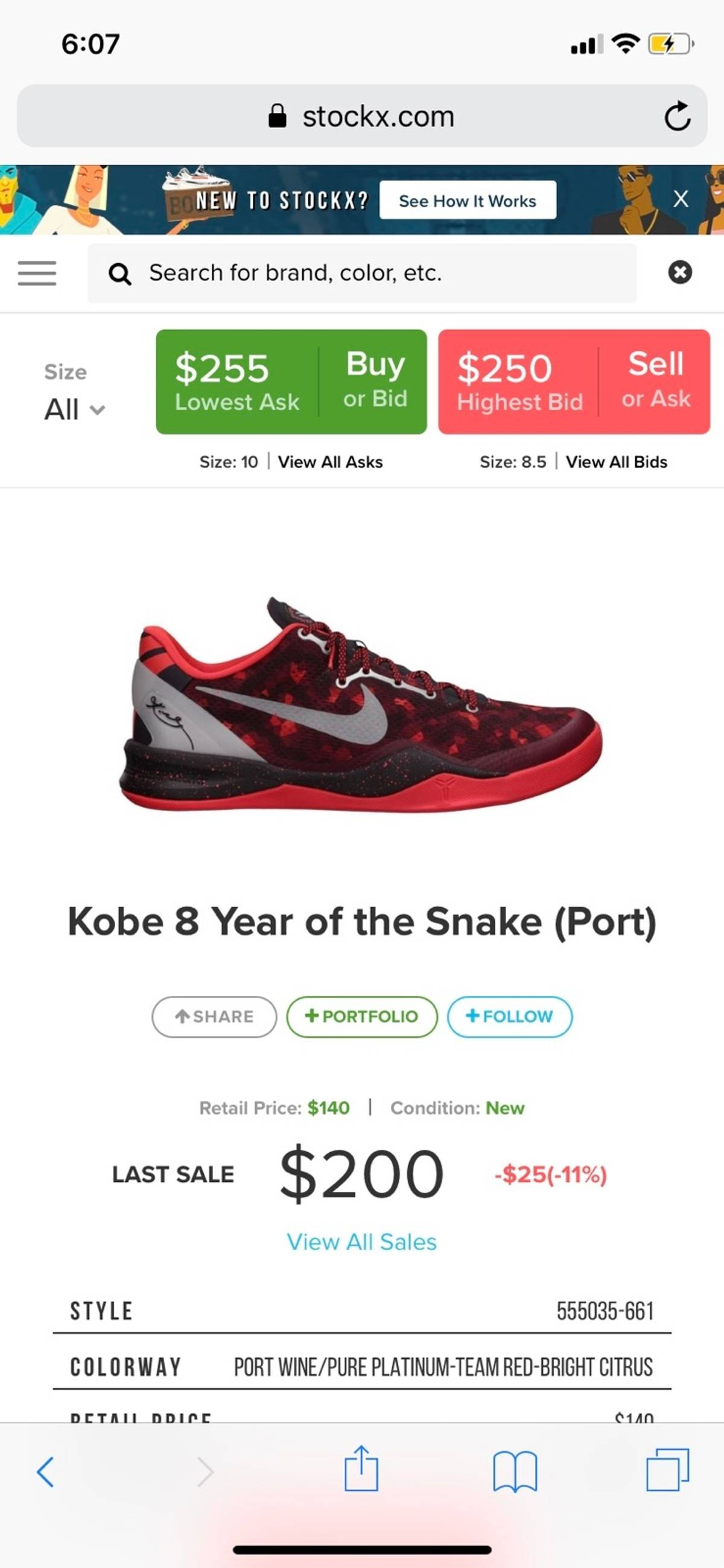 sports shoes 929eb 56d3f Nike ×. Kobe 8 Systems Year Of The Snake 🐍