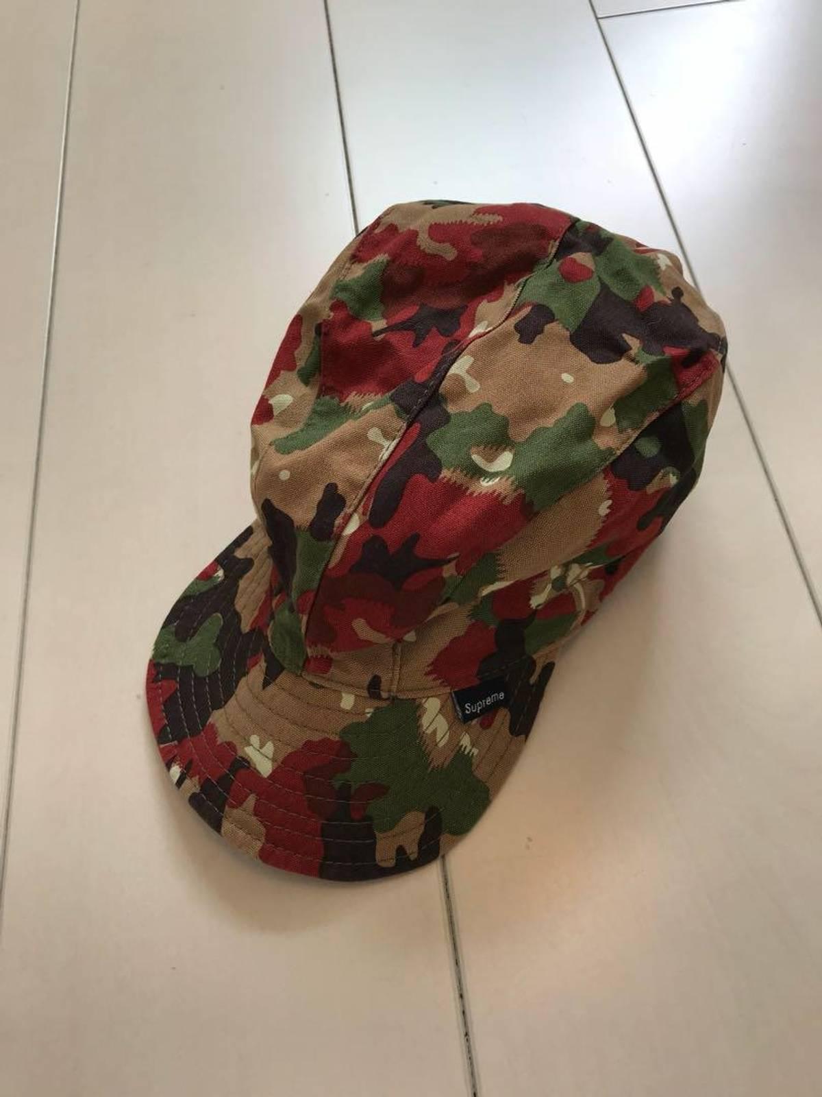 4a7e1168 Supreme Og Supreme Swiss Camo Camp Cap Hat Vintage | Grailed