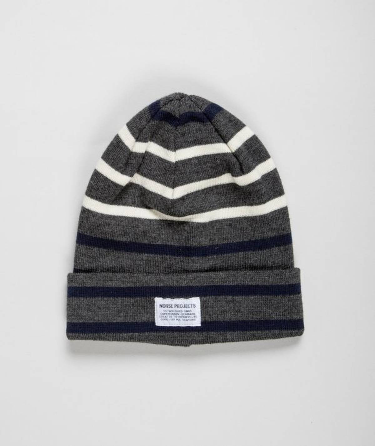 5e57850fbbc90 Norse Projects ×. Stripe merino beanie. Size  ONE SIZE